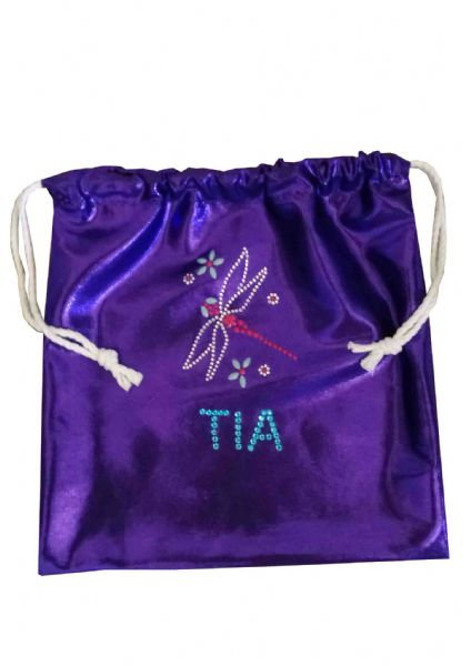 Personalised Handguard/Leotard Bags With Dragonfly Motif From £9.50